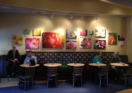 My canvases on exhibit