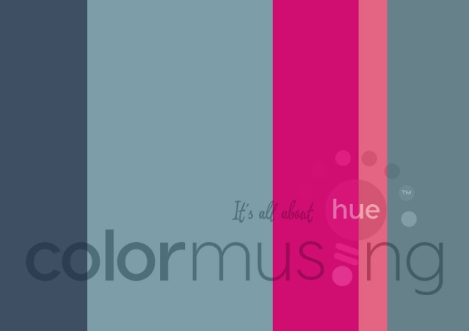 Carmel Blue Fuchsia color palette at Colormusing.com