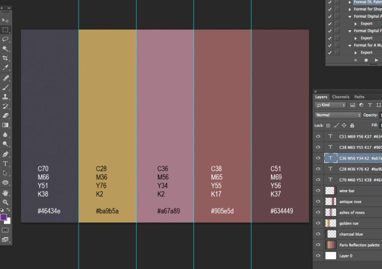 Palette PSD file
