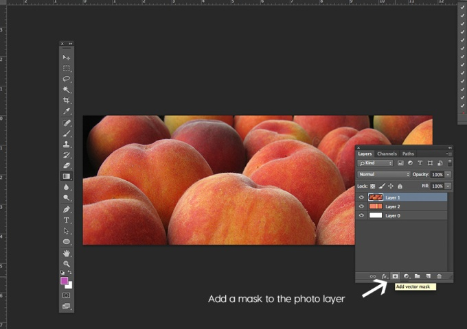 Add a mask to the photo layer