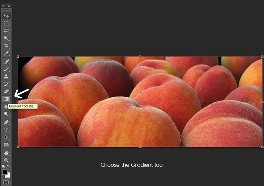 Choose the Gradient tool