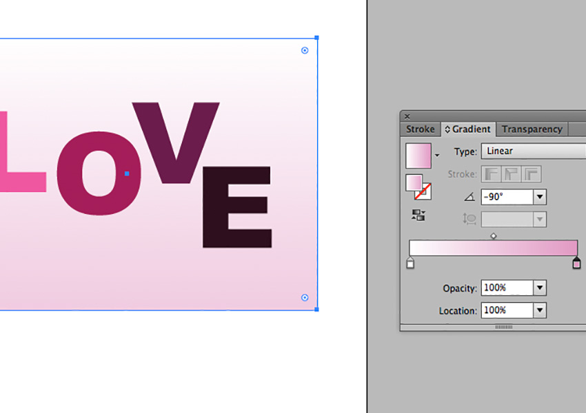 Creating a gradient background.