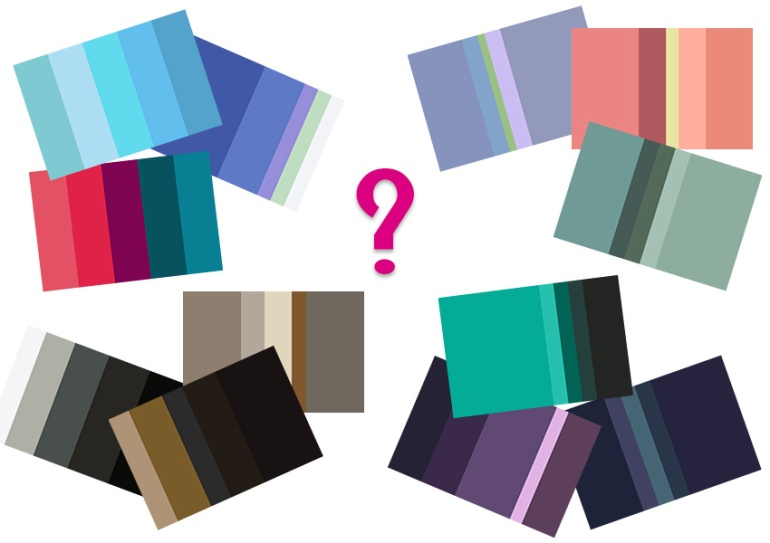 Color forecasting palettes