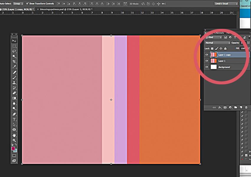 Duplicate palette layer.