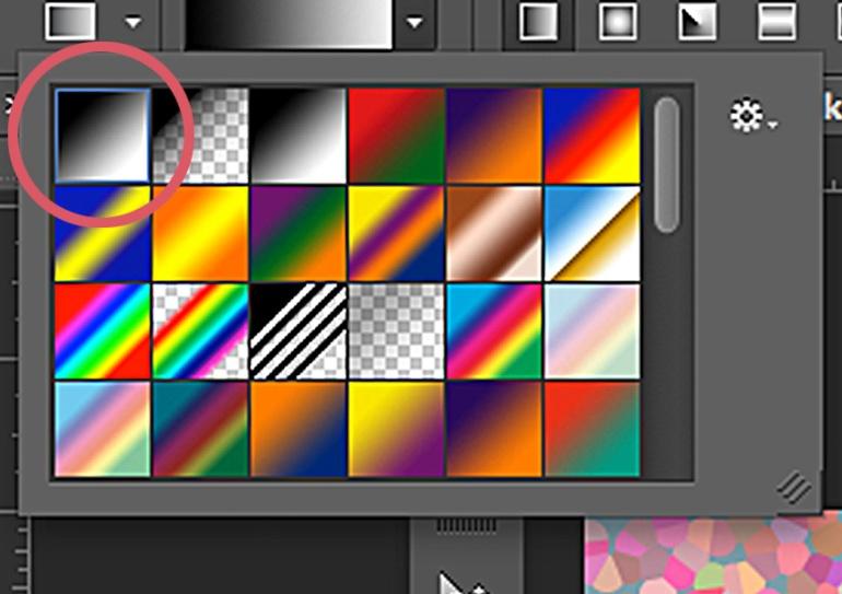 Choose gradient.