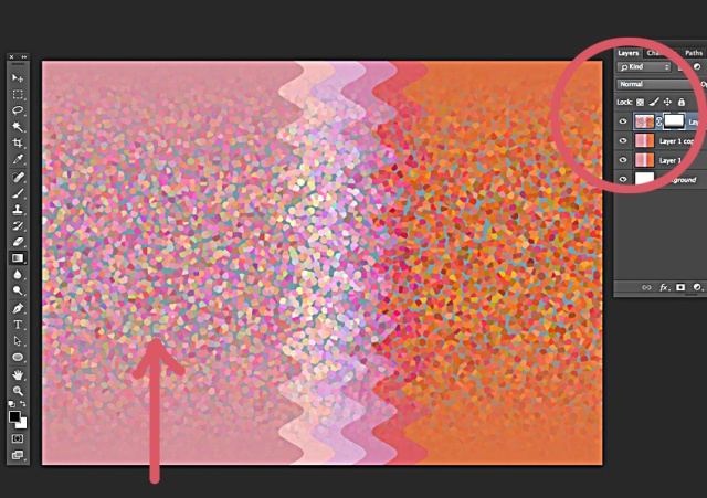 Repeat gradient mask on bottom of image.