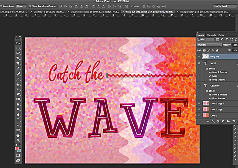 Blend modes for text layers