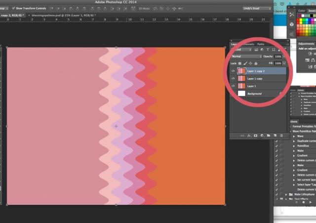 Duplicate wavy palette layer.