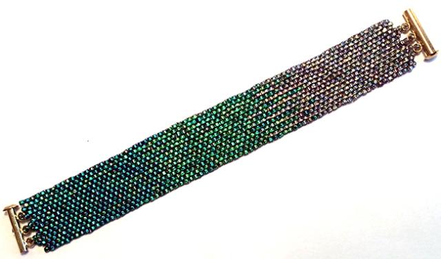 Beaded ombré bracelet