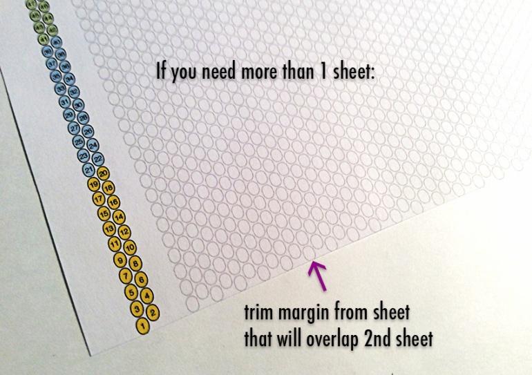 Peyote Stitch beadweaving chart