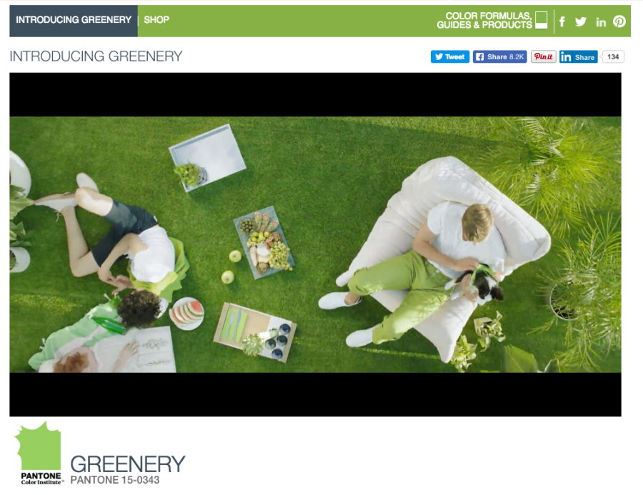 Pantone's Color of the Year: Greenery!